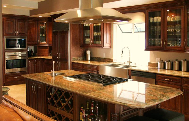 21 Dark Cabinet Kitchen Designs-12