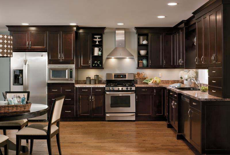 21 Dark Cabinet Kitchen Designs-19