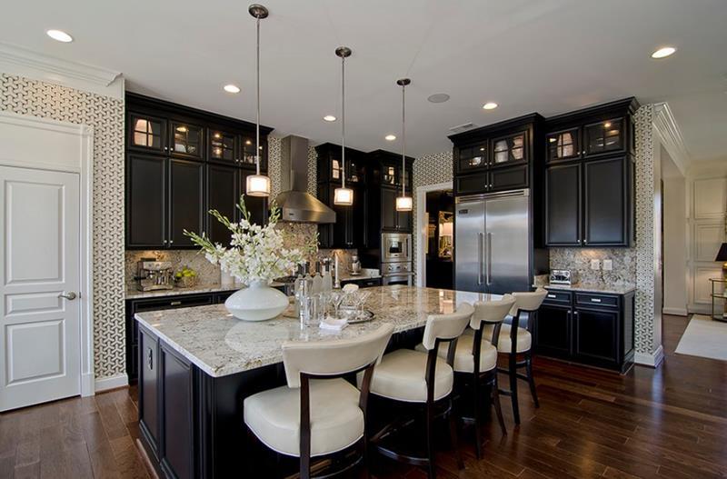 21 Dark Cabinet Kitchen Designs-20