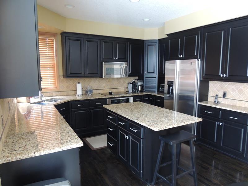 21 Dark Cabinet Kitchen Designs-4