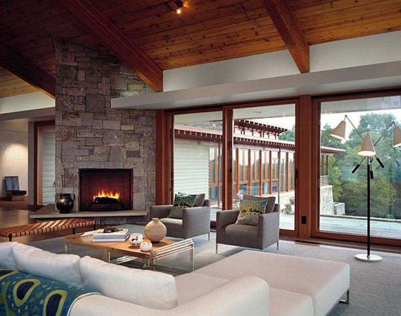 21 Living Rooms With Huge Picture Windows-17