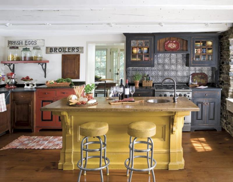 24 Country Kitchen Designs-23