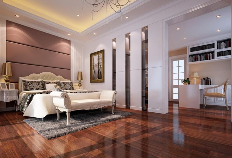 28 Master Bedrooms With Hardwood Floors-2