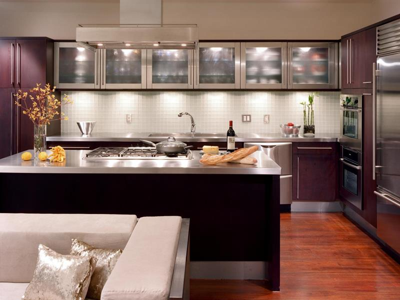 21 Sleek and Modern Metal Kitchen Designs-16