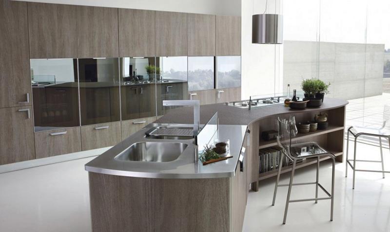 21 Sleek and Modern Metal Kitchen Designs-17