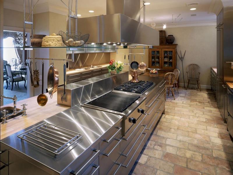 21 Sleek and Modern Metal Kitchen Designs-19