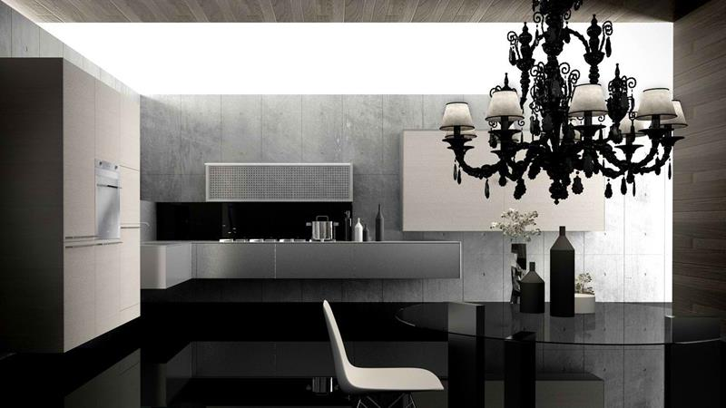 21 Sleek and Modern Metal Kitchen Designs-4