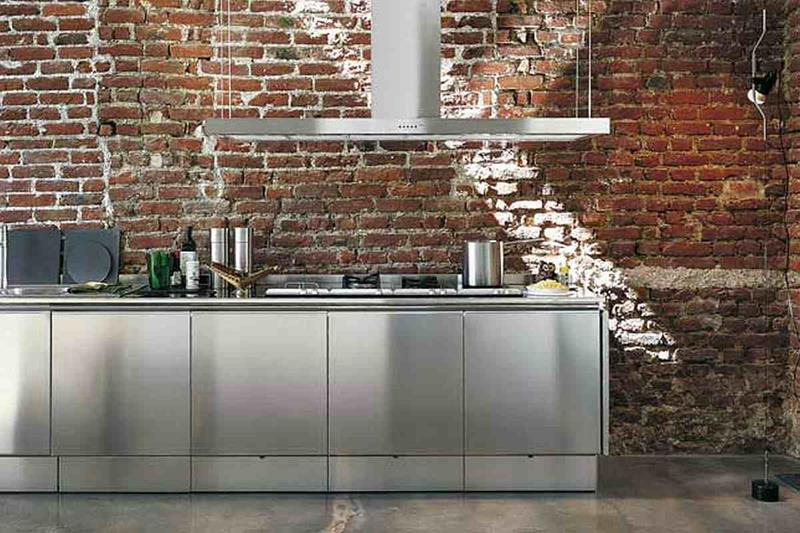 21 Sleek and Modern Metal Kitchen Designs-5