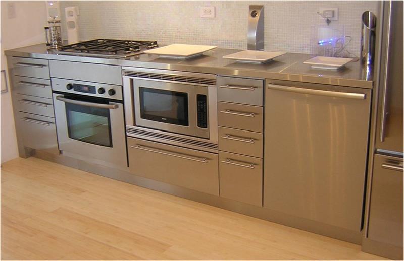21 Sleek and Modern Metal Kitchen Designs-8