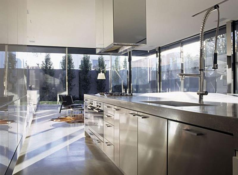 21 Sleek and Modern Metal Kitchen Designs-title