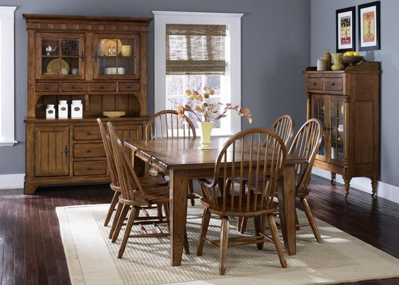24 Totally Inviting Rustic Dining Room Designs-1