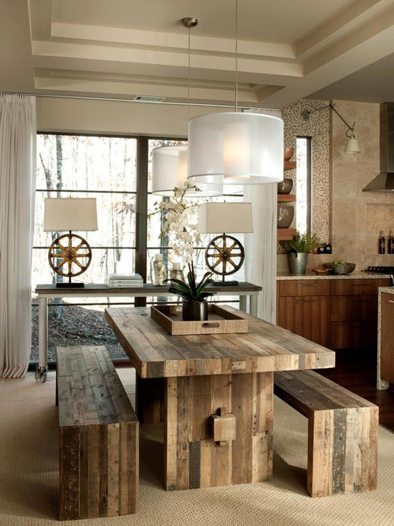 24 Totally Inviting Rustic Dining Room Designs-12