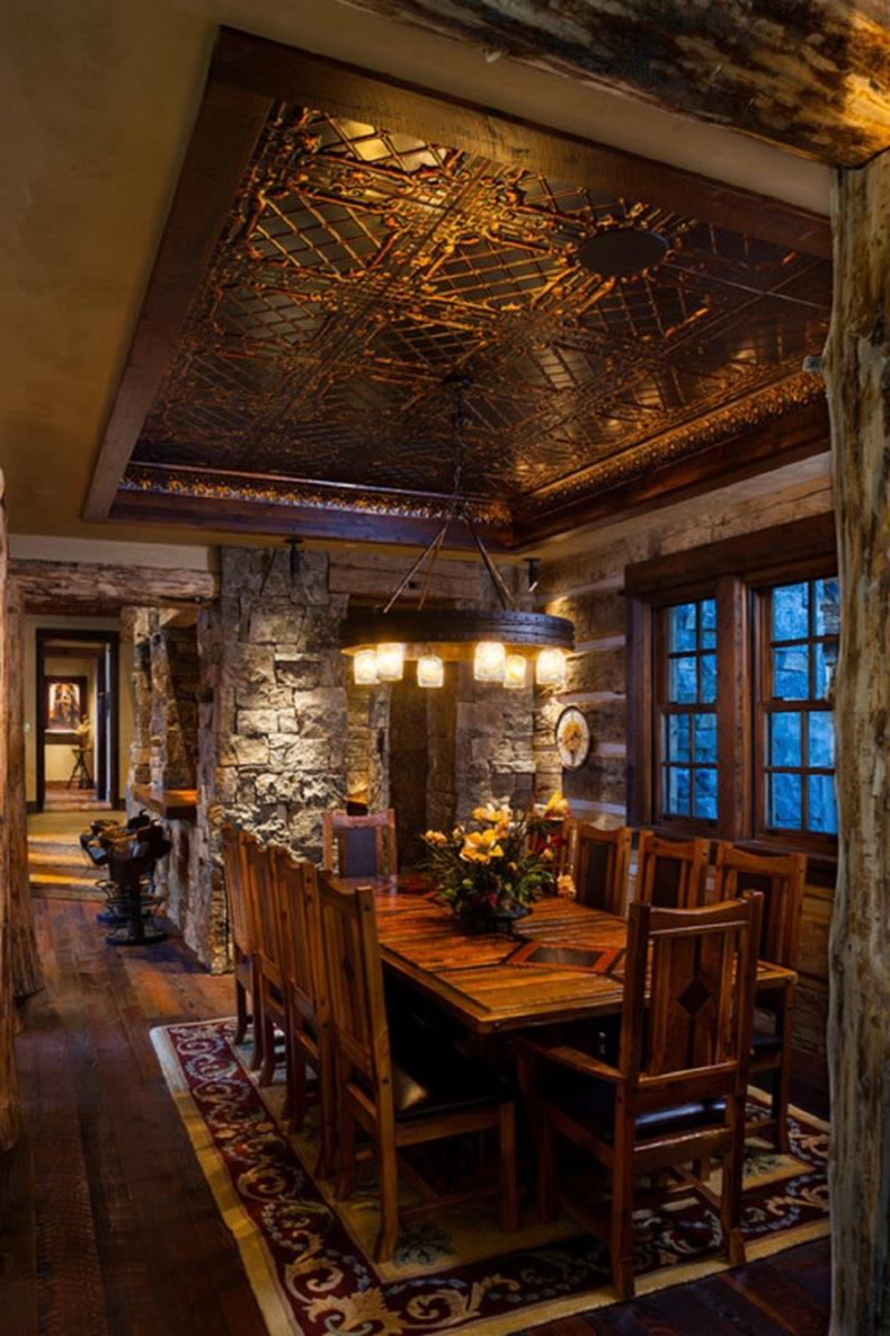 24 Totally Inviting Rustic Dining Room Designs-13