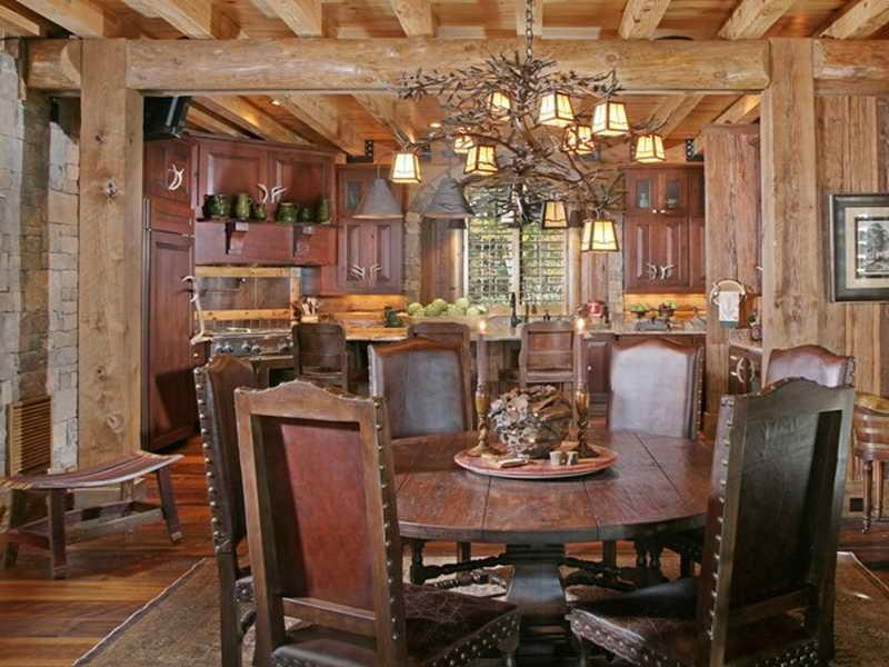 24 Totally Inviting Rustic Dining Room Designs-5