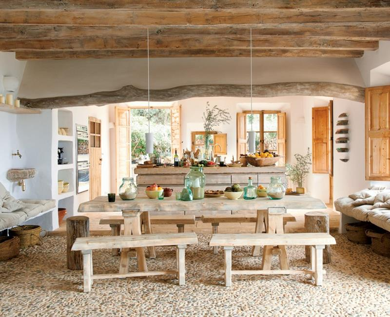 24 Totally Inviting Rustic Dining Room Designs-6