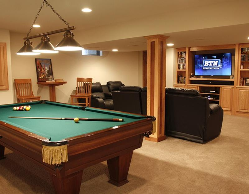 25 Inspiring Finished Basement Designs-21