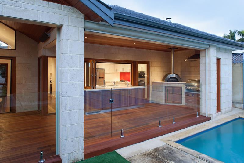 25 Outdoor Kitchen Designs That Will Light Up Your Grill-15