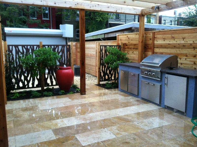 25 Outdoor Kitchen Designs That Will Light Up Your Grill-21