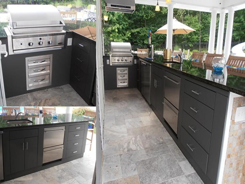 25 Outdoor Kitchen Designs That Will Light Up Your Grill-23