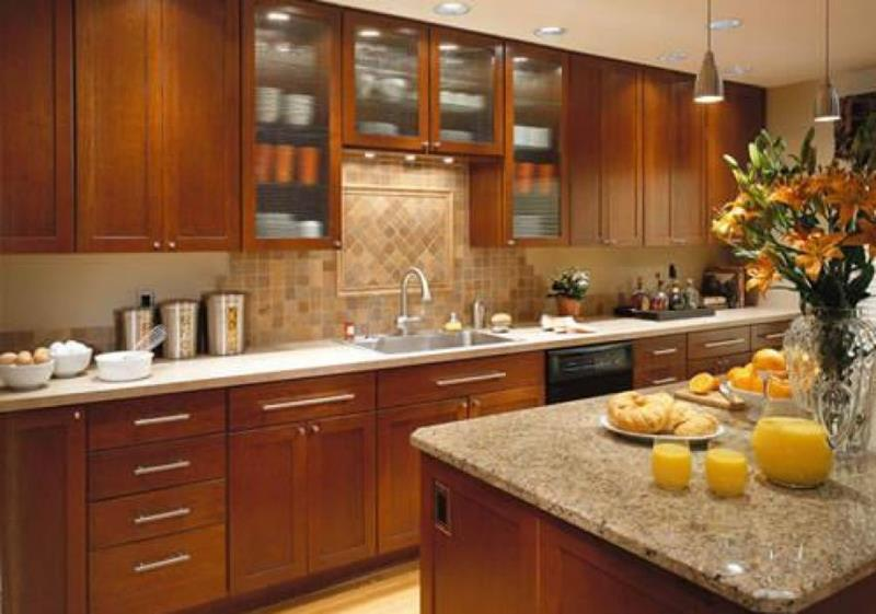 24 Pictures of Kitchens with Glass Cabinets-12