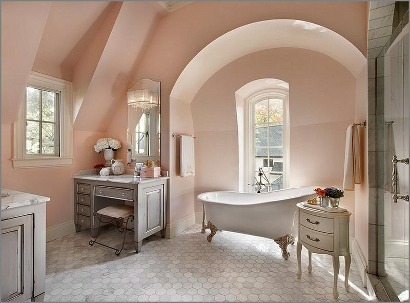25 Serene and Feminine Bathroom Designs-2