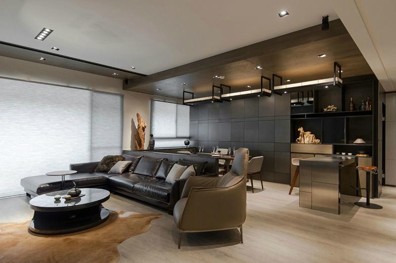 25 Super Masculine Living Room Designs-17