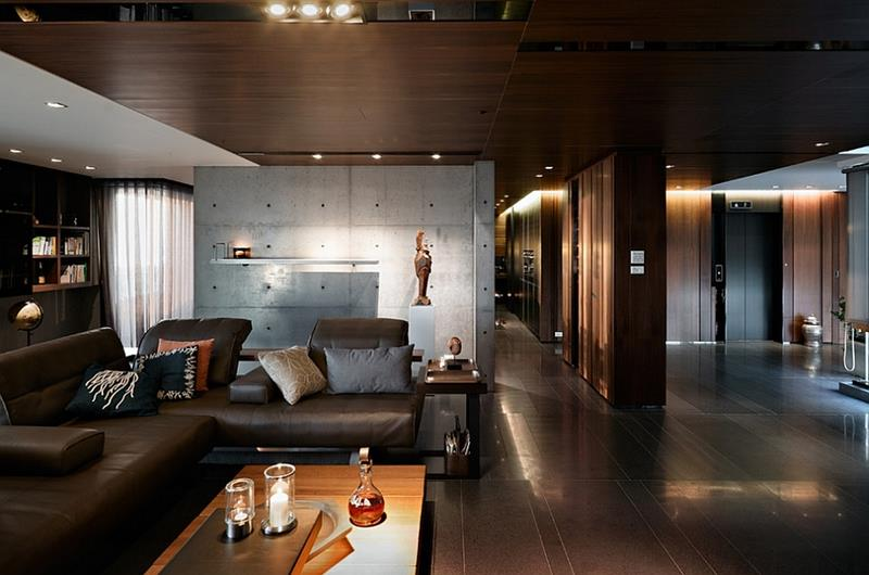 25 Super Masculine Living Room Designs-18