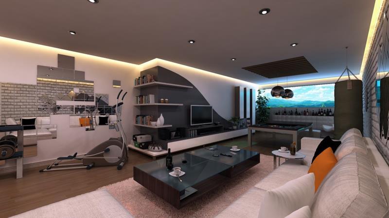 25 Super Masculine Living Room Designs-20