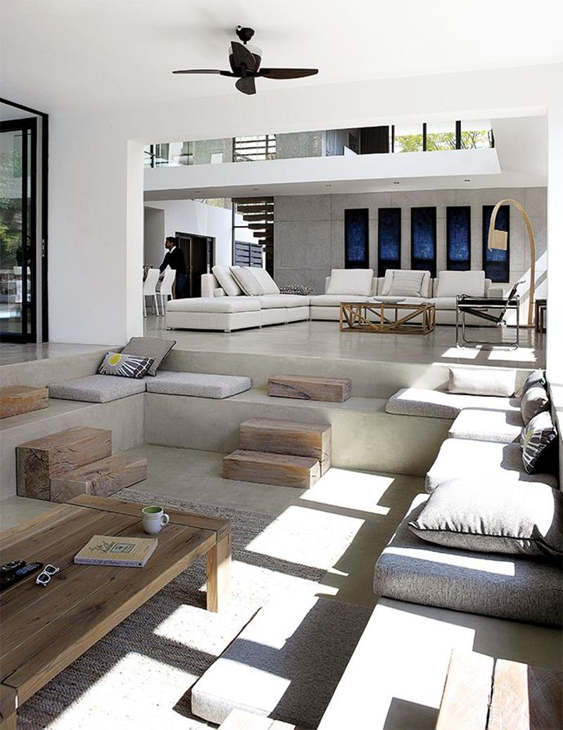 Design Detail – A Sunken Living Room Sits By The Pool At ...