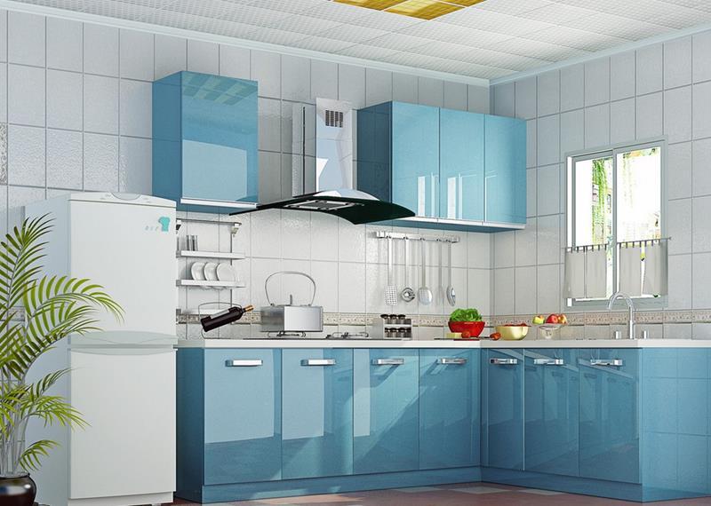 26 Eye Catching Blue Kitchen Designs-10