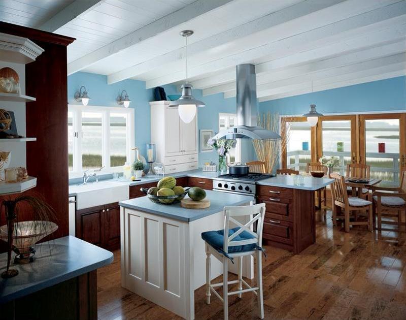 26 Eye Catching Blue Kitchen Designs-13
