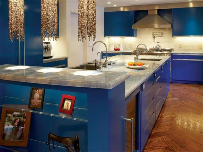 26 Eye Catching Blue Kitchen Designs-18
