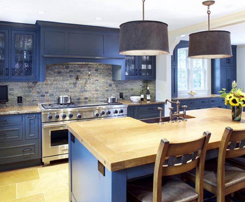 26 Eye Catching Blue Kitchen Designs-20