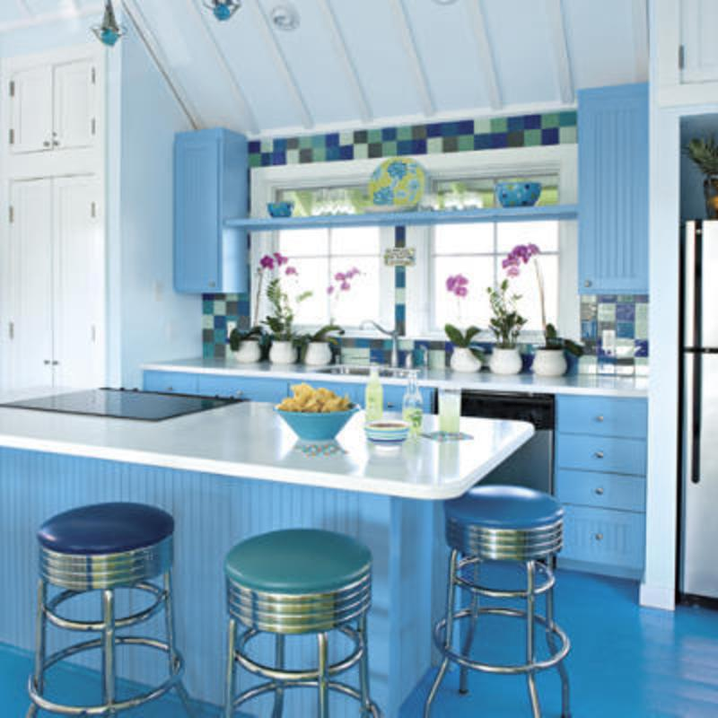 Cabinets For Kitchen: Blue Kitchen Cabinets Pictures