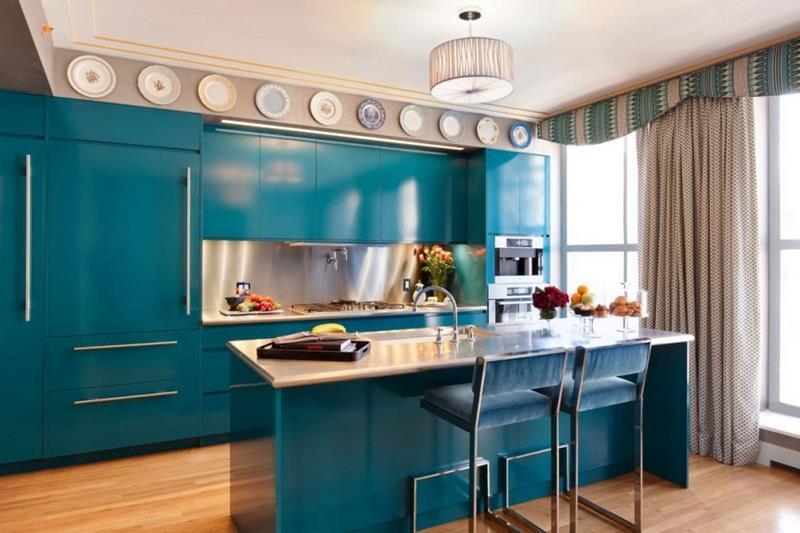 26 Eye Catching Blue Kitchen Designs-5