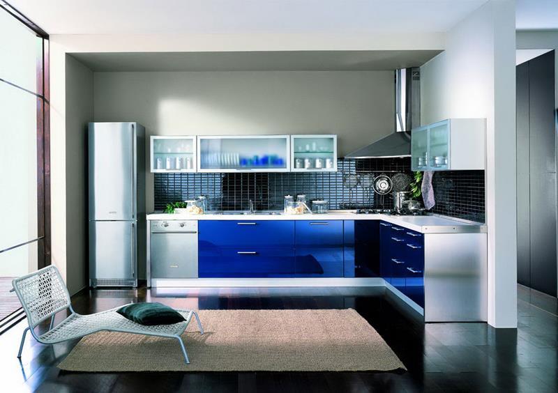 26 Eye Catching Blue Kitchen Designs-6