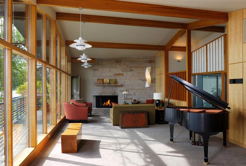27 Beautiful Mid Century Living Room Designs-19
