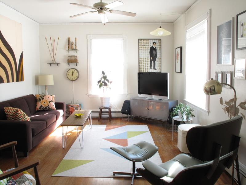 27 Beautiful Mid Century Living Room Designs-24