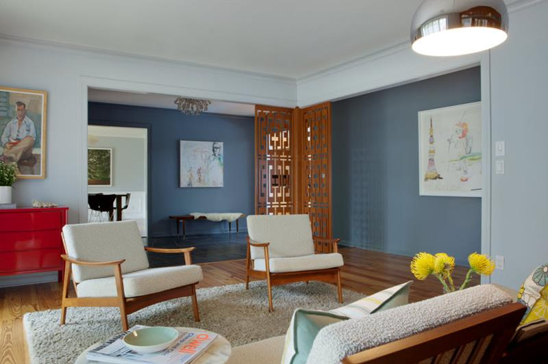 27 Beautiful Mid Century Living Room Designs-5