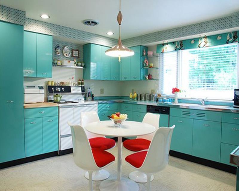 27 Retro Kitchen Designs That Are Back to the Future-1