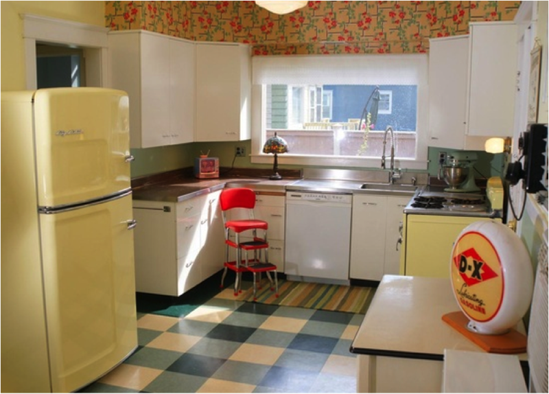 27 Retro Kitchen Designs That Are Back to the Future-24