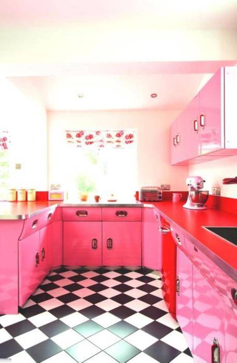 27 Retro Kitchen Designs That Are Back to the Future-25