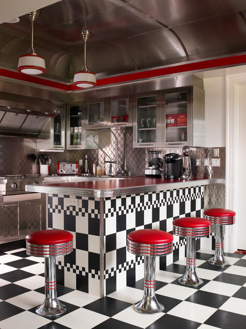 27 Retro Kitchen Designs That Are Back to the Future-27