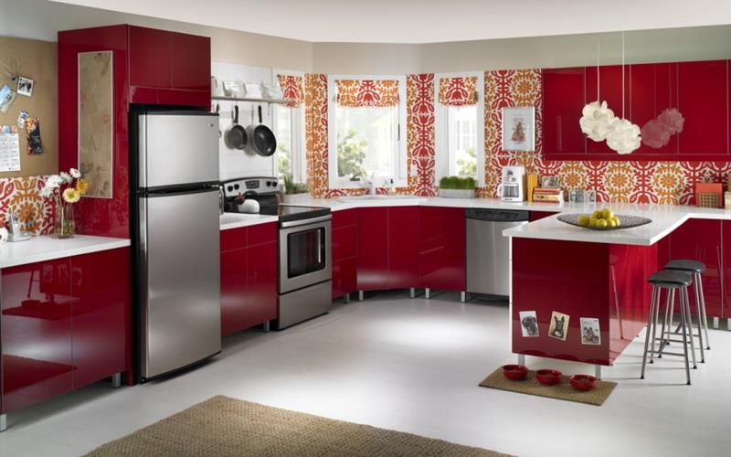 27 Totally Awesome Red Kitchen Designs-15