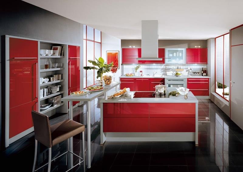 27 Totally Awesome Red Kitchen Designs-2