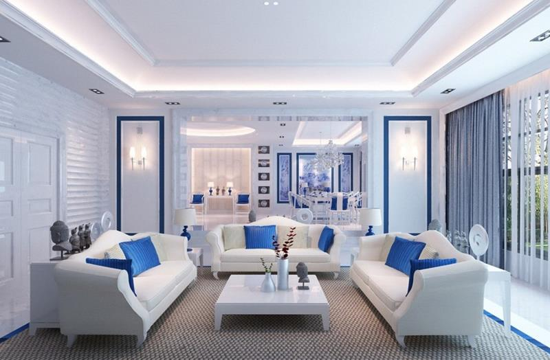 127 Luxury Living Room Designs-104