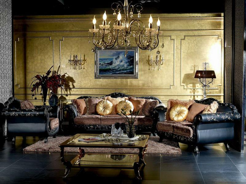 Vintage Living Room Design Beautiful Classic Sofas Luxury Chandelier