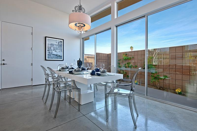 21 Dining Rooms With Beautiful Concrete Floors-10
