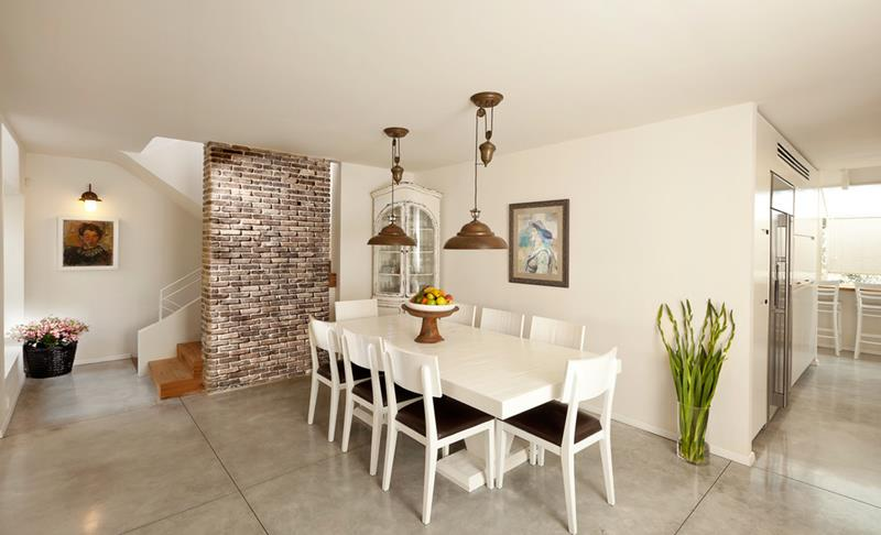 21 Dining Rooms With Beautiful Concrete Floors-11