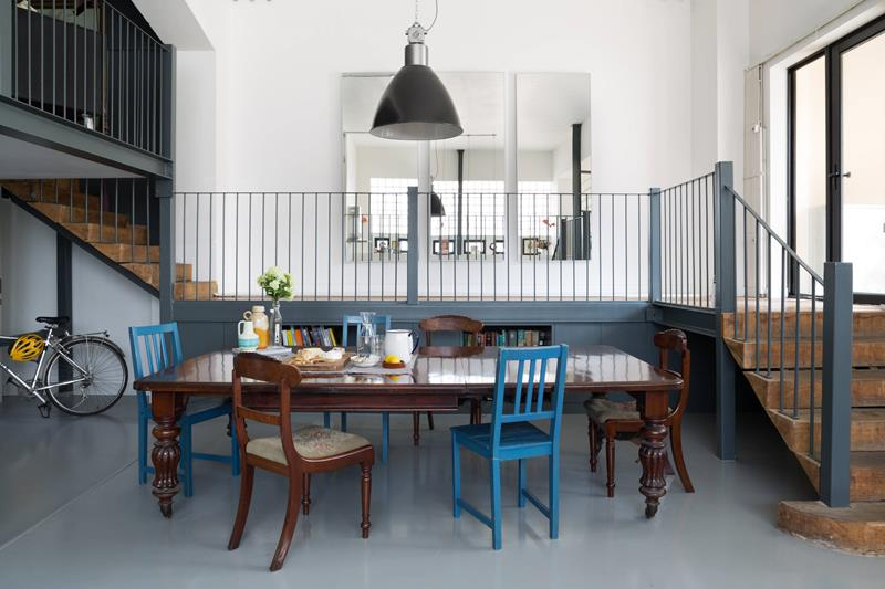 21 Dining Rooms With Beautiful Concrete Floors-12